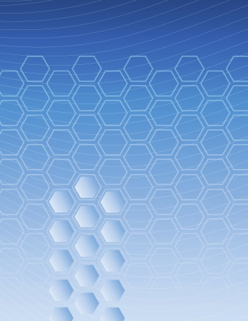 duo tone: A blue gradient hexagon pattern background