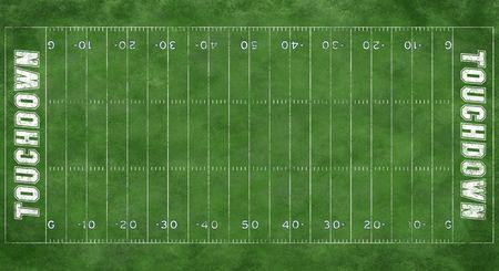 Een getextureerd gras voetbalveld grens met markeringen