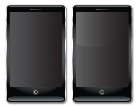 A vector image of a Touch Screen Smart Phone