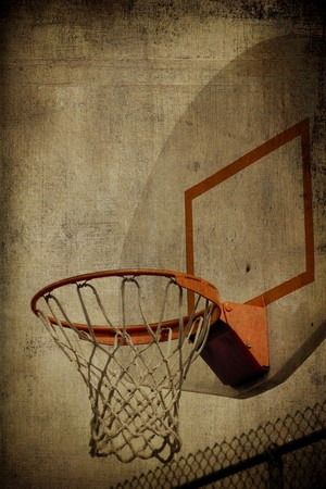 panier basketball: Basket-ball Basket Grunge Banque d'images