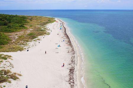 key of paradise: Florida Beach Stock Photo