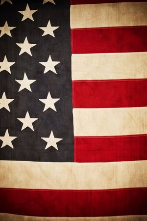 Antique American Flag  photo