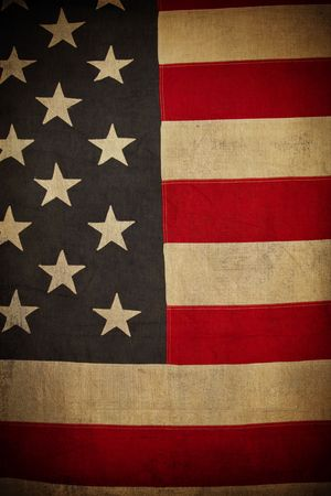 Grunge American Flag Background photo