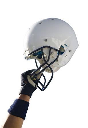 football helmet: Football Helmet with Clipping Path