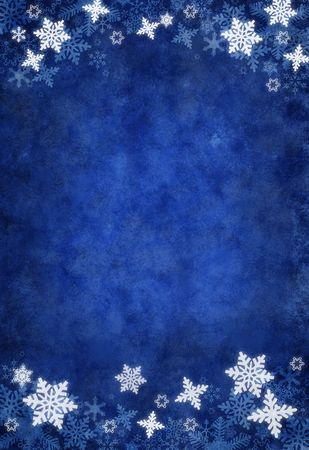 Blue Christmas Snowflake Background Stock Photo - 6152323