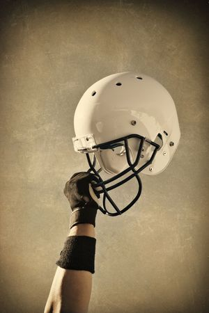 sideline: Football Helmet Sepia toned