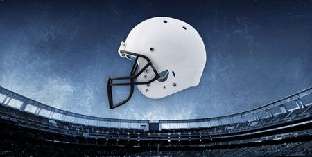the padding: Football Stadium Background with Helmet