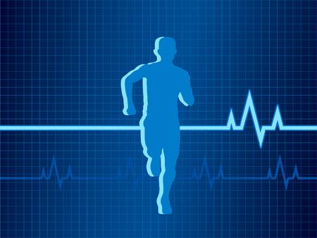 Gezond hart slag vector illustratie