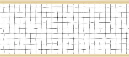 Ilustración de tenis o red de voleibol de vector
