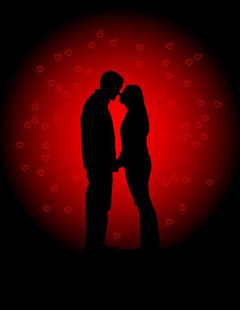 Ilustración de vector de amantes de San Valentín  Foto de archivo - 6152324