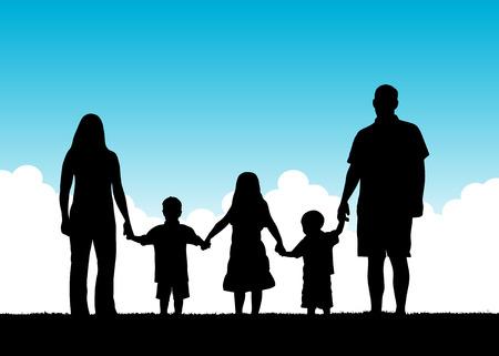 compartiendo: Vector de sentimiento de unidad familiar