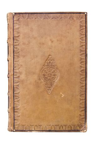 Antique leather book Cover Stock Photo - 6168072