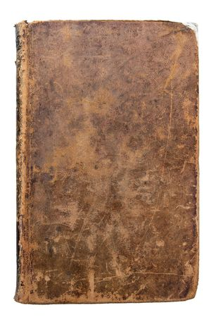 Worn leather book Cover
