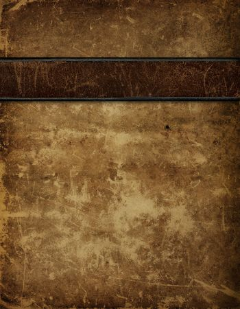 Antique Leather Book Cover photo