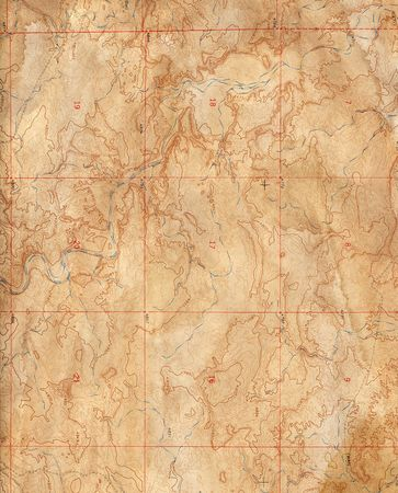 antique map: Old Topographical Map (Expedition background)