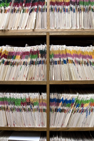 Dental or Medical Records Room Stock Photo