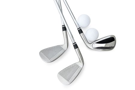 golf clubs: Golf Clubs isolated on white