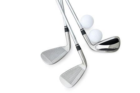 Golf-Clubs, isoliert auf weiss