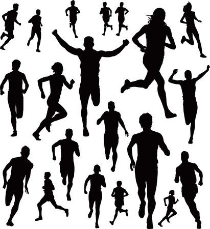 bieżnia: Kolekcja Runners Ilustracja
