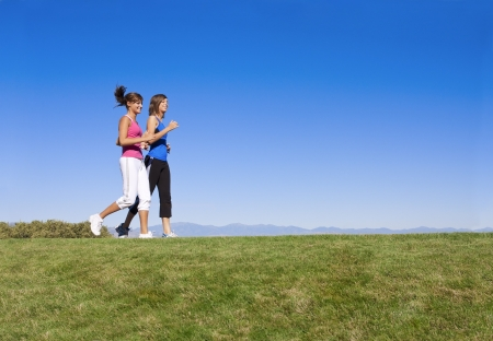 daily routine: Women Jogging & Fitness