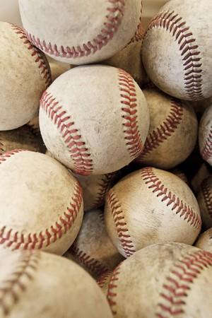 Veel en veel honkballen achtergrond