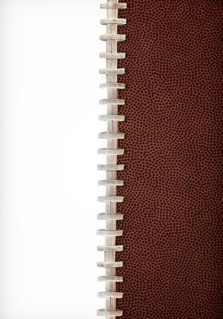 Football Laces Layout Extra Large Size Stock Photo
