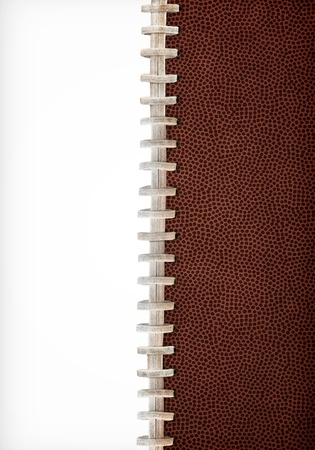 Football Laces Layout Extra Large Size Stock Photo