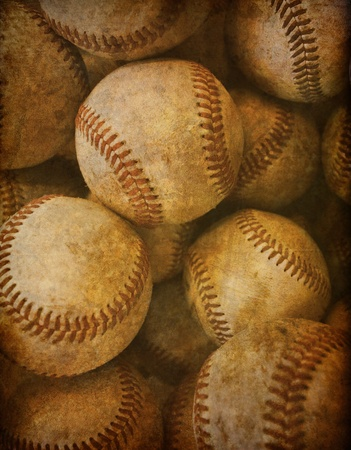baseball ball: Aged Vintage baseball background