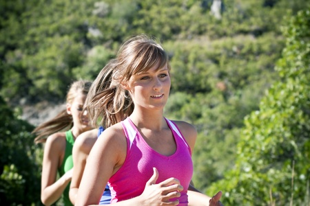 female jogger: Incidente femenina que se ejecuta al aire libre
