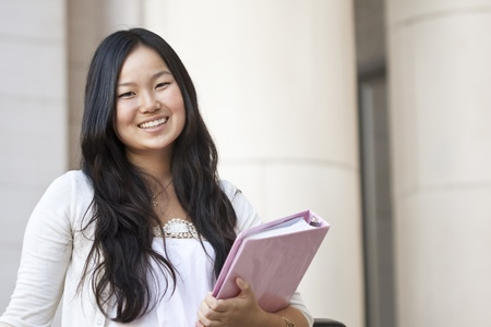 An attractive Asian college student portrait  photo