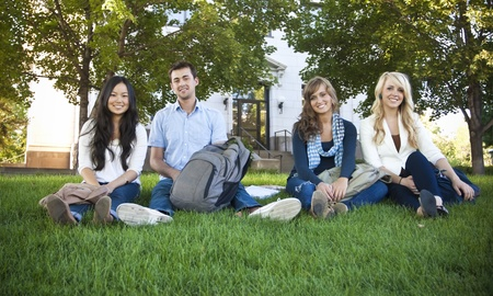 Smiling Group of Attractive Students Stock Photo - 9775131