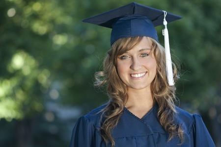 collegian: Smiling Female Graduate