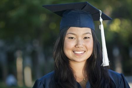 absolwent: PiÄ™kne Portret azjatyckich Absolwent