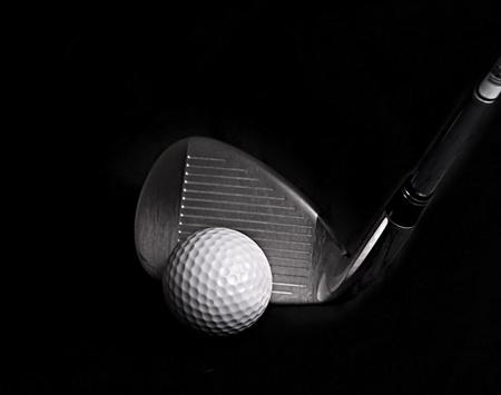 Golf Club hitting Golf Ball Stock Photo