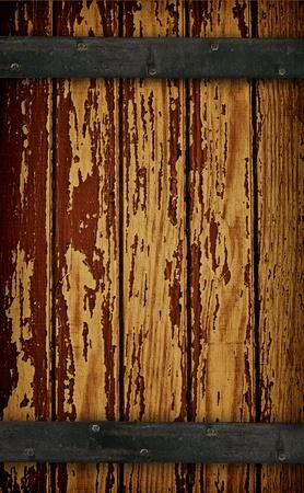 oxidado: Puerta de granero madera oscura