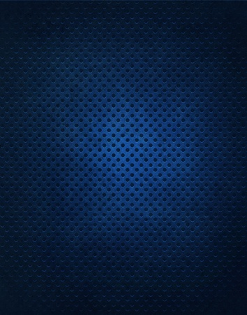 vignette: Blue Metal Grate Background Stock Photo