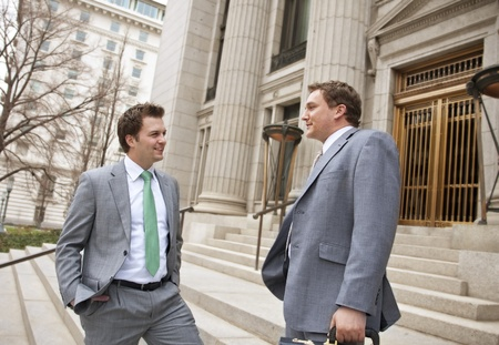 Smiling Confident Businessmen or Lawyers Stock Photo - 9784149