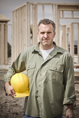 manly: Rugged Male Construction Worker portrait