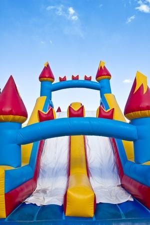 rutsche: Kinder Aufblasbares Schloss Jumping Spielplatz Lizenzfreie Bilder
