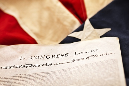 july: The Declaration of Independence (Selective Focus)