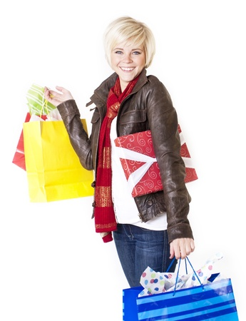 Happy Female Retail Shopper Stock Photo - 12035953
