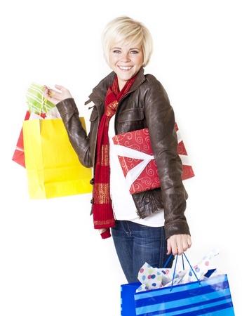 Happy Female Retail Shopper Stock Photo - 12035953