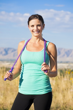Beautiful and Fit Female Portrait  Stock Photo - 12037847