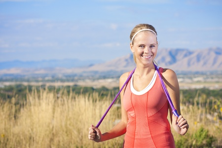 Happy Active Beautiful Fitness Woman Stock Photo - 12035946