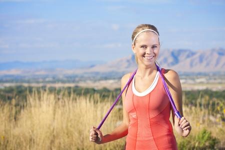 Happy Active Beautiful Fitness Woman Stock Photo - 12035946