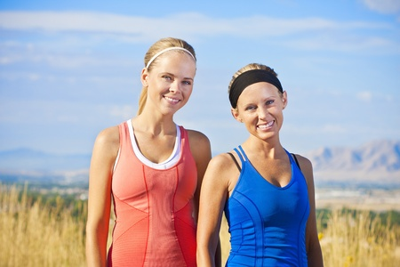 Portrait of Two women ready for a fitness workout Stock Photo - 12035947