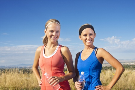 Portrait of Two women after their fitness workout Stock Photo - 12035962