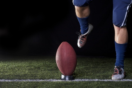 kickoff: Football Kickoff Closeup