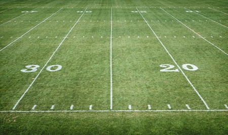 touchdown: American Football Field horizontal
