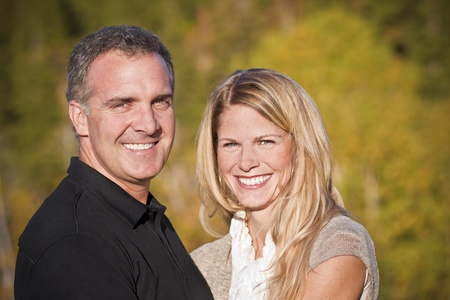 Beautiful Middle-aged Couple Portrait photo